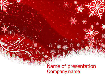 Snowflake Blizzard PowerPoint Template, 08964, Holiday/Special Occasion — PoweredTemplate.com