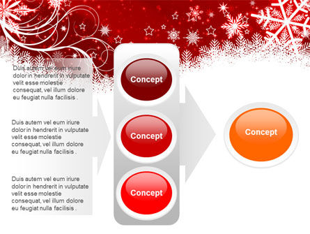 Snowflake Blizzard PowerPoint Template Slide 11