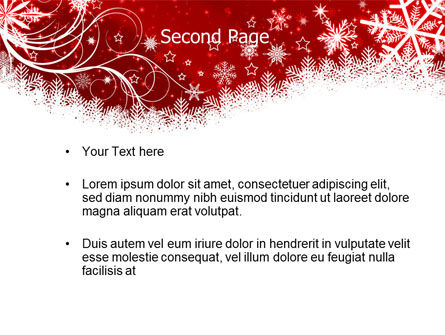 Snowflake Blizzard PowerPoint Template, Slide 2, 08964, Holiday/Special Occasion — PoweredTemplate.com