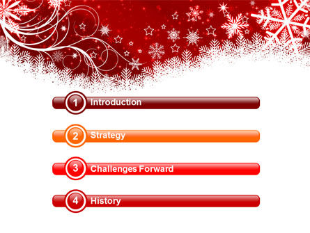 Snowflake Blizzard PowerPoint Template, Slide 3, 08964, Holiday/Special Occasion — PoweredTemplate.com