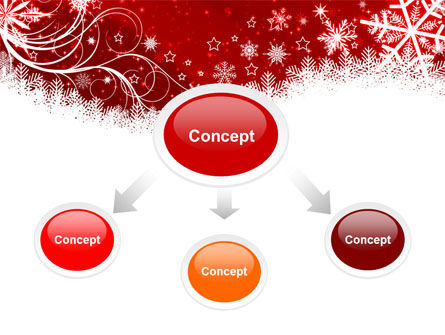 Snowflake Blizzard PowerPoint Template, Slide 4, 08964, Holiday/Special Occasion — PoweredTemplate.com