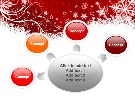 Snowflake Blizzard PowerPoint Template Slide 7