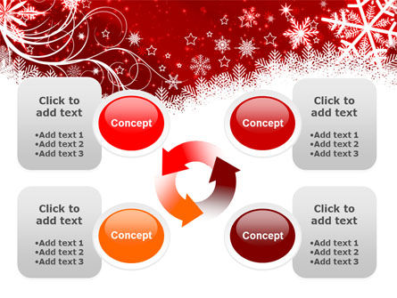 Snowflake Blizzard PowerPoint Template Slide 9