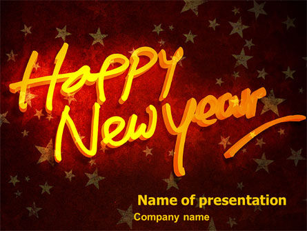 Holiday/Special Occasion: Happy New Year Theme PowerPoint Template #08965
