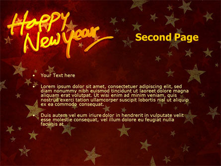 happy new year theme powerpoint template slide 2 08965 holidayspecial occasion