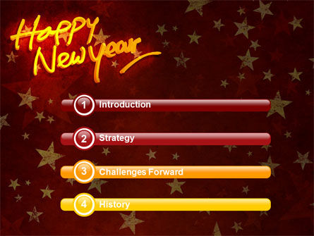 Happy New Year Theme PowerPoint Template Slide 3