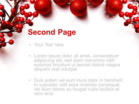 Rowanberry PowerPoint Template, Slide 2, 08966, Holiday/Special Occasion — PoweredTemplate.com