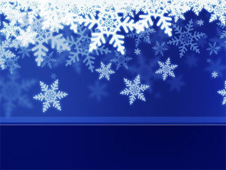 Holiday/Special Occasion: Snowflakes Night PowerPoint Template #08967