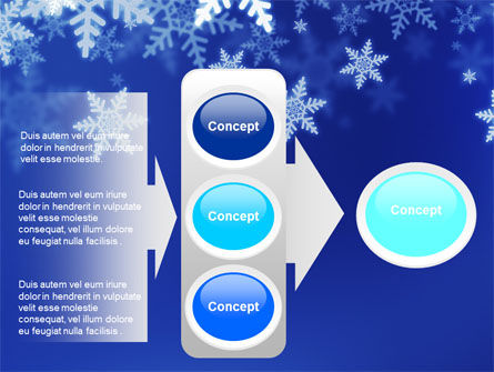 Snowflakes Night PowerPoint Template Slide 11