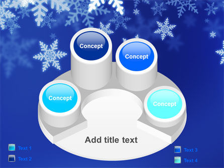 Snowflakes Night PowerPoint Template Slide 12