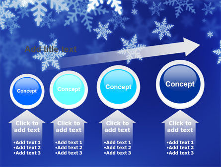 Snowflakes Night PowerPoint Template Slide 13