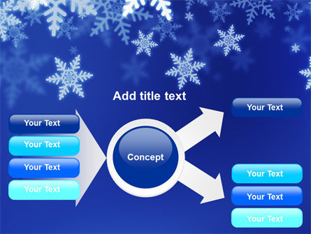 Snowflakes Night PowerPoint Template Slide 14