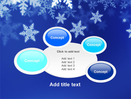 Snowflakes Night PowerPoint Template Slide 16