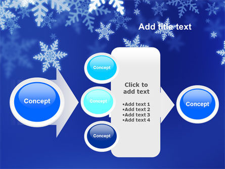 Snowflakes Night PowerPoint Template Slide 17