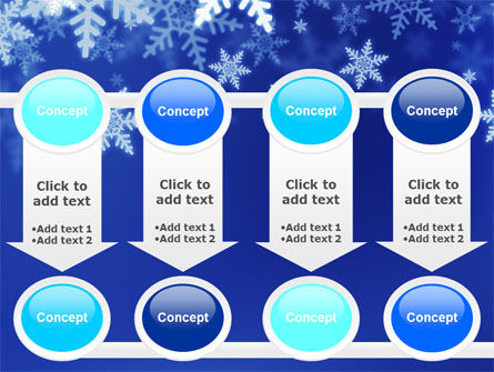 Snowflakes Night PowerPoint Template Slide 18