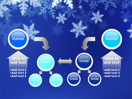 Snowflakes Night PowerPoint Template Slide 19