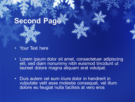 Snowflakes Night PowerPoint Template Slide 2