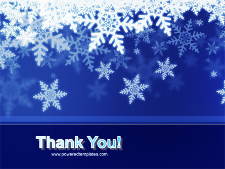 Snowflakes Night PowerPoint Template Slide 20
