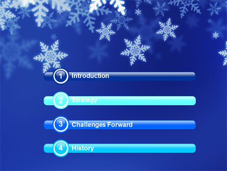 Snowflakes Night PowerPoint Template Slide 3