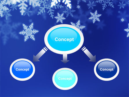 Snowflakes Night PowerPoint Template Slide 4