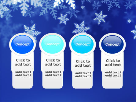 Snowflakes Night PowerPoint Template Slide 5