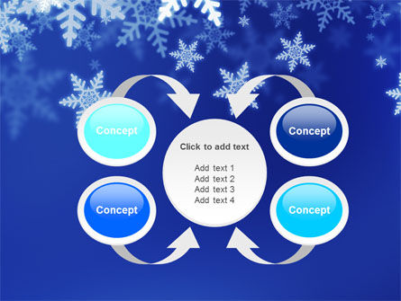 Snowflakes Night PowerPoint Template Slide 6