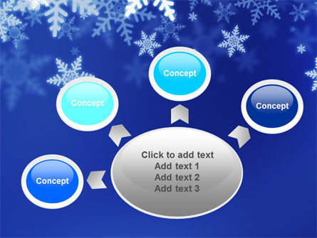 Snowflakes Night PowerPoint Template Slide 7