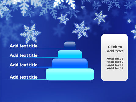 Snowflakes Night PowerPoint Template Slide 8