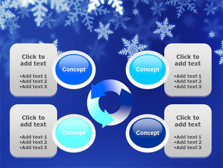 Snowflakes Night PowerPoint Template Slide 9