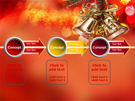 Bells On Christmas Tree PowerPoint Template Slide 11
