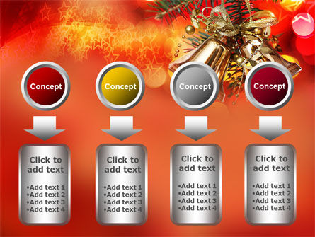 Bells On Christmas Tree PowerPoint Template Slide 18