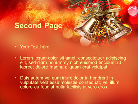 Bells On Christmas Tree PowerPoint Template Slide 2