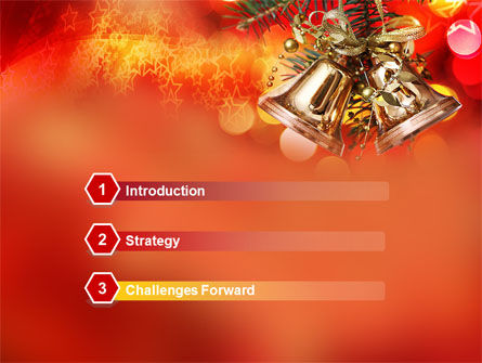 Bells On Christmas Tree PowerPoint Template, Slide 3, 08969, Holiday/Special Occasion — PoweredTemplate.com