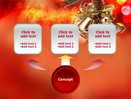 Bells On Christmas Tree PowerPoint Template, Slide 4, 08969, Holiday/Special Occasion — PoweredTemplate.com
