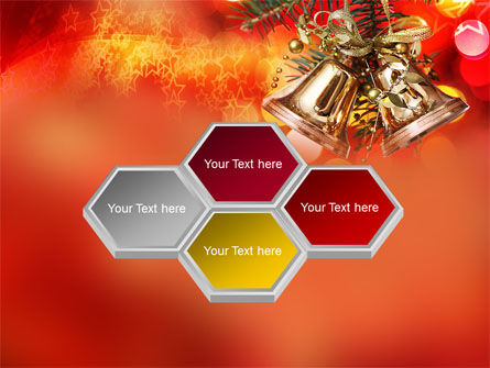 Bells On Christmas Tree PowerPoint Template Slide 5