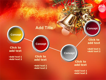 Bells On Christmas Tree PowerPoint Template Slide 6