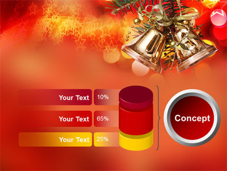 Bells On Christmas Tree PowerPoint Template Slide 8