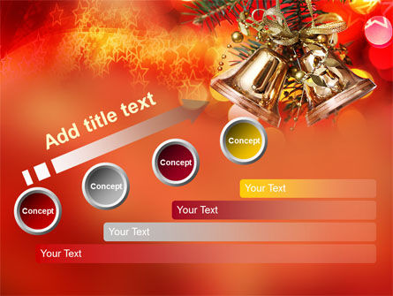 Bells On Christmas Tree PowerPoint Template Slide 9