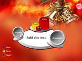 Bells On Christmas Tree PowerPoint Template#13