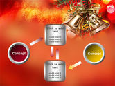 Bells On Christmas Tree PowerPoint Template#19