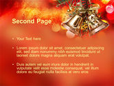 Bells On Christmas Tree PowerPoint Template#2