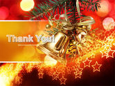 Bells On Christmas Tree PowerPoint Template#20