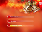 Bells On Christmas Tree PowerPoint Template#3