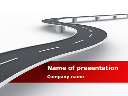 Construction: Road Overpass PowerPoint Template #08970