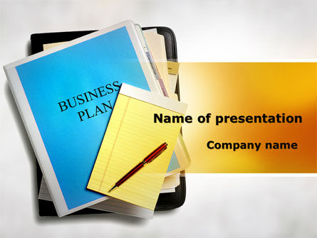 Business Plan Stack Of Papers PowerPoint Template