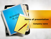 Business Plan Stack Of Papers PowerPoint Template#1
