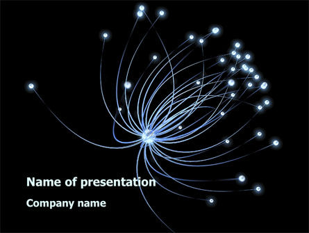Optic Fiber line PowerPoint Template