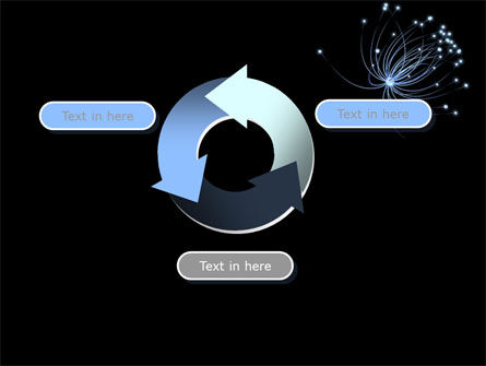 Optic Fiber line PowerPoint Template Slide 9