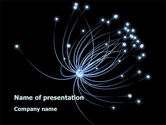 Abstract/Textures: Optic Fiber line PowerPoint Template #08973