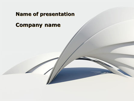 Gray Arch PowerPoint Template, 08974, Construction — PoweredTemplate.com